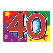 Affiche scintillante « 40 ». 10 x 15 po, 6/paquet