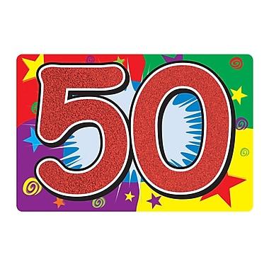 Affiche scintillante « 50 ». 10 x 15 po, 6/paquet