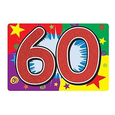 Affiche scintillante « 60 ». 10 x 15 po, 6/paquet