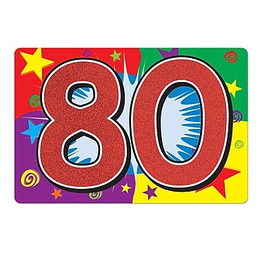 Affiche scintillante « 80 ». 10 x 15 po, 6/paquet