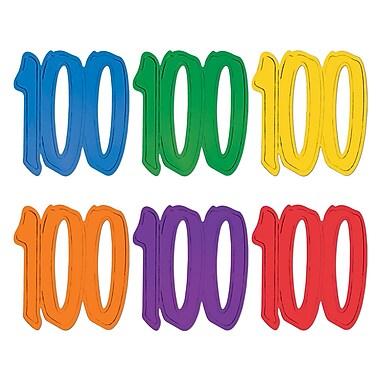 Silhouettes « 100 » en papier aluminium, 12 po, paq./24