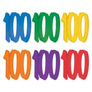 """""""100"""" Foil Silhouettes, 12"""", 24/Pack"""