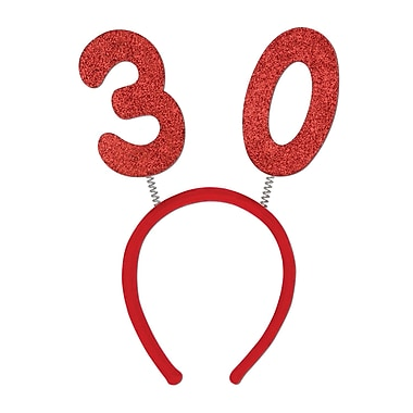 Boppers scintillants 30e, taille universelle, rouge, 3/paquet