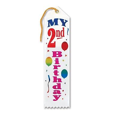 Ruban «My 2nd Birthday», 2 x 8 po, 9/paquet