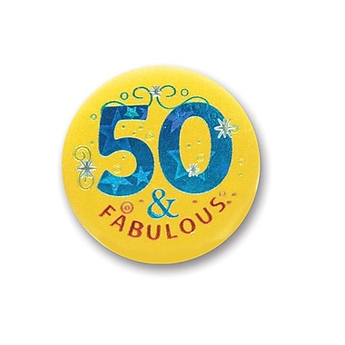 50 & Fabulous Satin Button, 2