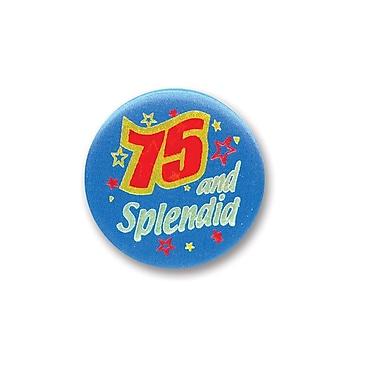 Bouton satiné « 75 & Splendid », 2 po, 7/paquet