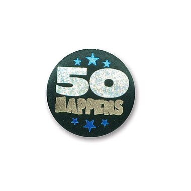 50 Happens Satin Button, 2