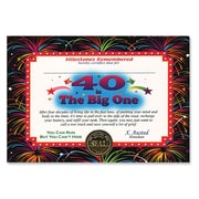 Beistle 5 x 7 40 Is The Big One Certificate, 6/Pack