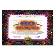 "Beistle 5"" x 7"" 60 Is The Big One Certificate, 6/Pack"