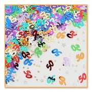 Beistle 50 & Stars Confetti, Multicolor, 5/Pack