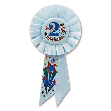 Boy's 2nd Birthday Rosette, 3-1/4