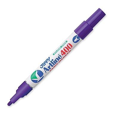 Jiffco® - Marqueur à peinture Artline, pointe moyenne, pourpre