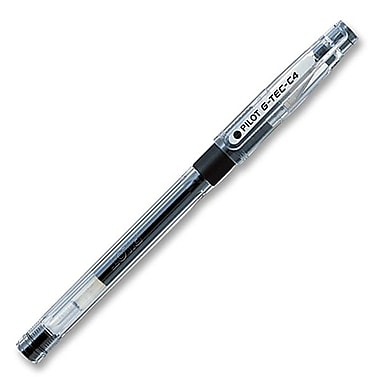 Pilot® BeGreen G-Tec-C4 Grip Gel Rollerball Stick Pen, 0.2 mm, Black