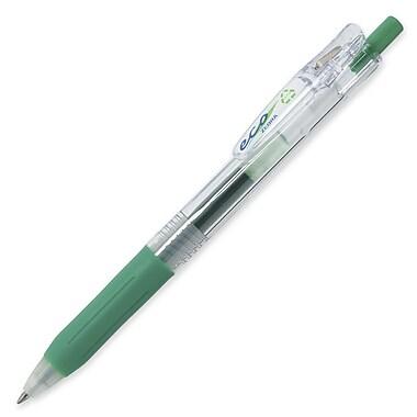 Zebra® Sarasa Eco Gel Retractable Gel Pen, 1.0 mm, Green