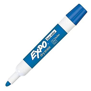 Expo® Low Odour Dry Erase Marker, Bullet Tip, Blue