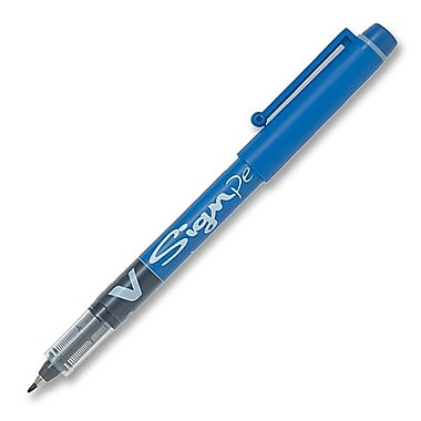Pilot® Fibre Tip SWVSP Sign Pen, Medium Point, Blue