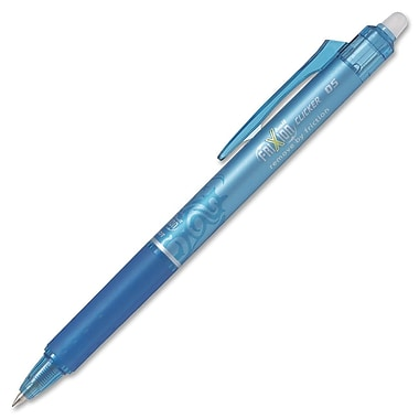 Pilot® FriXion Clicker Retractable Erasable Gel Ink Ball Pen, 0.5 mm, Teal