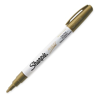 Sharpie® Oil-Based Paint Marker, Fine Tip, Metallic Gold