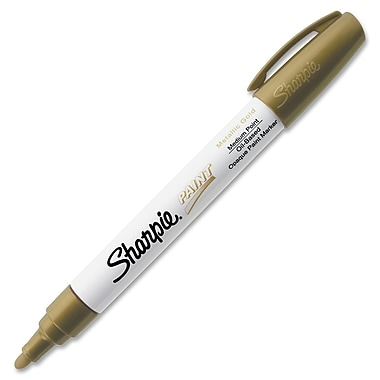 Sharpie® Oil-Based Paint Marker, Medium Tip, Metallic Gold