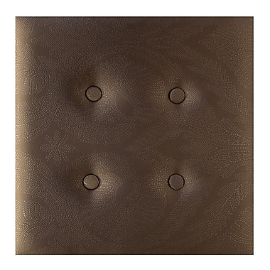 Nexxt Luxe, Upholstered Wall Panels, Paisley Satin Brown, 8/Set, 18