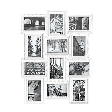 Nexxt Revet Series Dual Level Collage Frame, White, 26