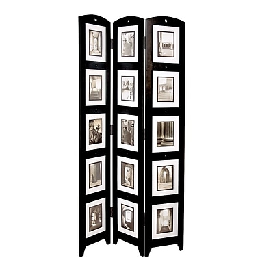Nexxt Triple Panel Floor Screen with Foam, Black, 51/100