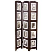 "Nexxt PN09520-7 Brown Wood 64.5"" x 18.5"" Triple Panel Picture Frame"