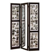 "Nexxt Preston Floor Standing Triple Panel Photo Screen With Mirror, 65"" x 42"" x 3/4"""