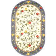 """Anglo Oriental Delight Oval Area Rug, 3'0"""" x 5'0"""", Blue"""