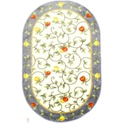 """Anglo Oriental Delight Oval Area Rug, 5'0"""" x 8'0"""", Blue"""