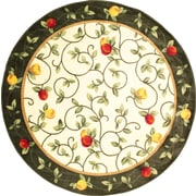 """Anglo Oriental Delight Round Area Rug, 6'0"""" x 6'0"""", Green"""