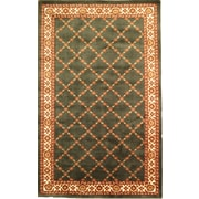 """Anglo Oriental Epic  Area Rug, 5'0"""" x 8'0"""", Green"""