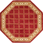 """Anglo Oriental Epic Octagon Area Rug, 6'0"""" x 6'0"""", Burgundy"""