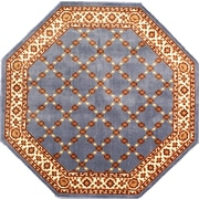 """Anglo Oriental Epic Octagon Area Rug, 6'0"""" x 6'0"""", Blue"""