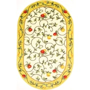 """Anglo Oriental Delight Oval Area Rug, 5'0"""" x 8'0"""", Beige"""