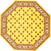 """Anglo Oriental Epic Octagon Area Rug, 6'0"""" x 6'0"""", Beige"""