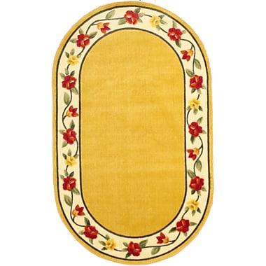 Anglo Oriental - Tapis décoratif oval Eternal, 3 pi 0 po x 5 pi 0 po, beige