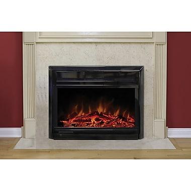 Paramount – Foyer insert pour cheminée électrique, 28 po, noir lustré