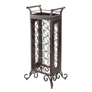 "Winsome® 37.87"" Silvano Wood/Metal Wine Rack with Removable Tray, Dark Bronze"