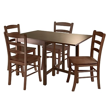 Winsome Lynden 5-Piece Dining Table with 4 Ladder Back Chairs
