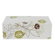 """Dixie® Pathways™ 9"""" x 5"""" x 3"""" Paper 1-Compartment Carryout Container, White/Green/Burgundy, 250/Pack"""