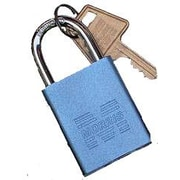 Morris Products Hardened Steel Padlocks Keyed Alike; Blue