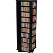 Venture Horizon VHZ Entertainment 1160 CD Multimedia Revolving Tower; Black with Oak Top