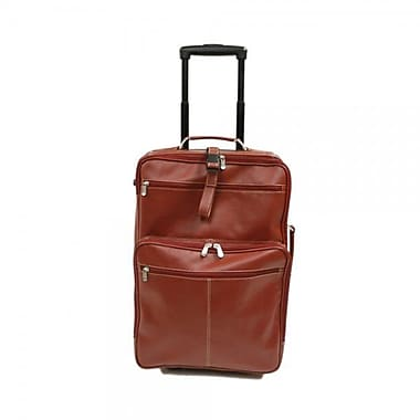 Piel Blushing Red Collection 22'' Wheeled Traveler Suitcase; Blushing Red