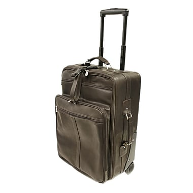Piel 22'' Wheeler with Top Pocket and Laptop Compartment Carry On; Chocolate