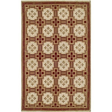 American Home Rug Co. Neo Nepal Empire Gold/Burgundy Area Rug; 6' x 9'