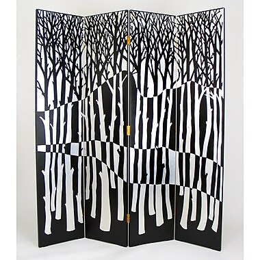 Wayborn 72'' x 64'' Forest 4 Panel Room Divider