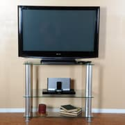 RTA Home And Office Extra Tall Glass and Aluminum 35'' TV Stand