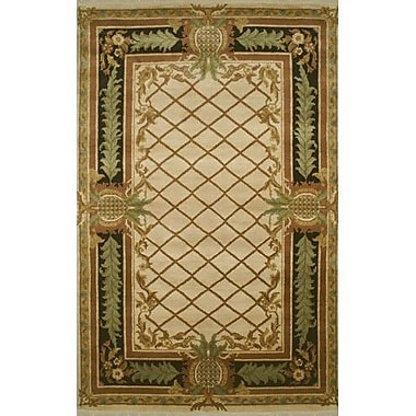American Home Rug Co. Palm Beach Beige Pineapple Aubusson Area Rug; 9' x 12'