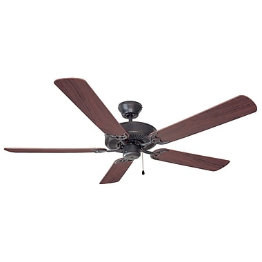 Design House 52'' Mill Bridge 5 Blade Ceiling Fan; Oil Rubbed Bronze w/Dark Mahagony / Maple Blade